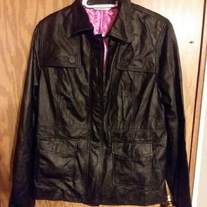 Isaac Mizrahi leather jacket
